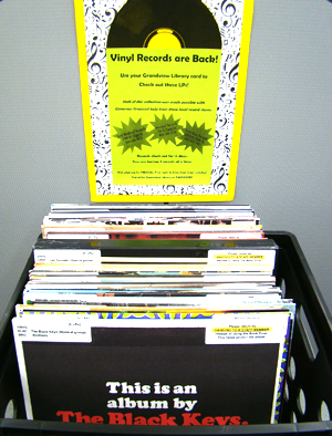 Record collection at Grandview Heights Public Library